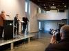 Moderator Roland Jeanneret, Rudolf Burger, Vize-Chefredaktor <<Der Bund>>, und Markus Eisenhut, Co-Chefredaktor <<Berner Zeitung>>, am 17. Berner Medientag im Kornhausforum Bern zum Thema <<Hilfe die Zurcher kommen! Wie weiter nach dem Tamedia-Deal?>>. (C) Daniel Bernet