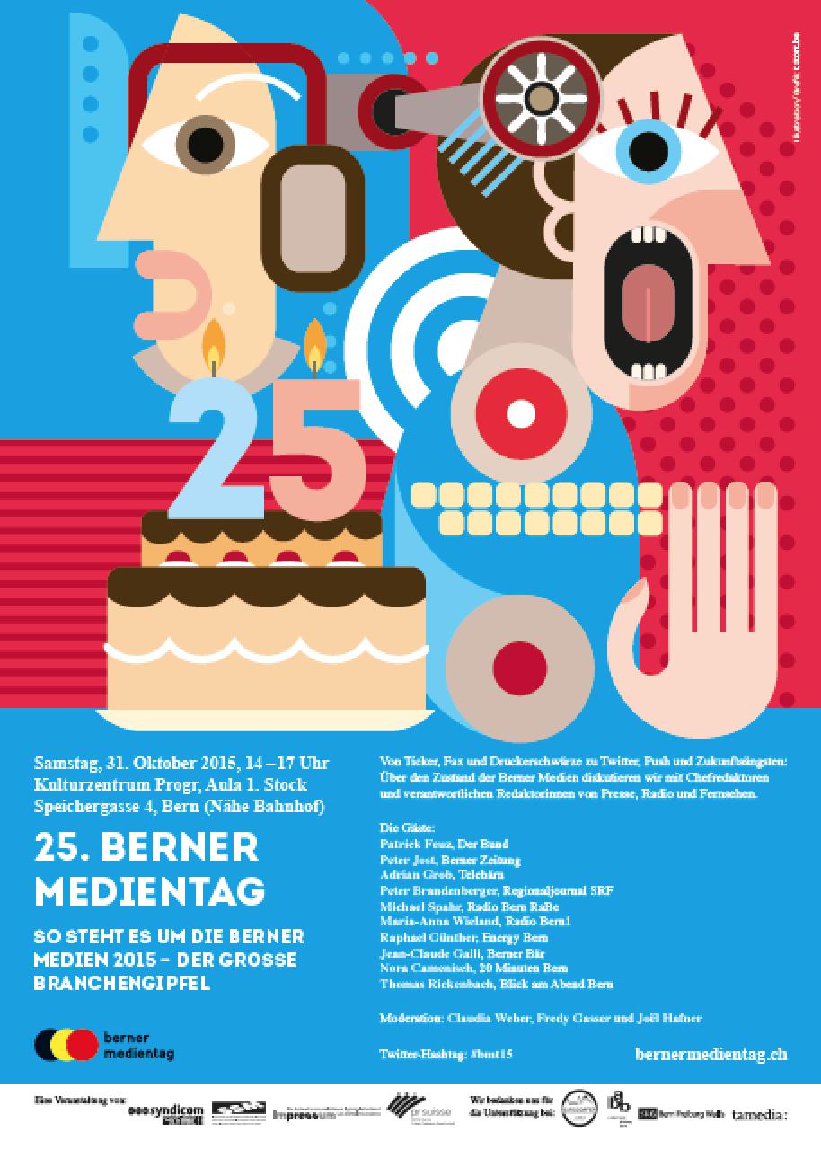 Plakat Berner Medientag 2015