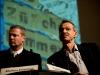 Markus Eisenhut, Co-Chefredaktor >, und Rudolf Burger, Vize-Chefredaktor >, am 17. Berner Medientag im Kornhausforum Bern zum Thema >. (C) Daniel Bernet