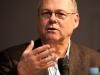 Artur K. Vogel (Chefredaktor Der Bund) am 19. Berner Medientag zum Thema <<Ausgepresste Presse - ist die abonnierte Zeitung am Ende?>> im Radiostudio Bern.