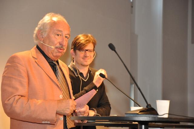 Roland Jeanneret und Nick Lüthi am 20. Berner Medientag.